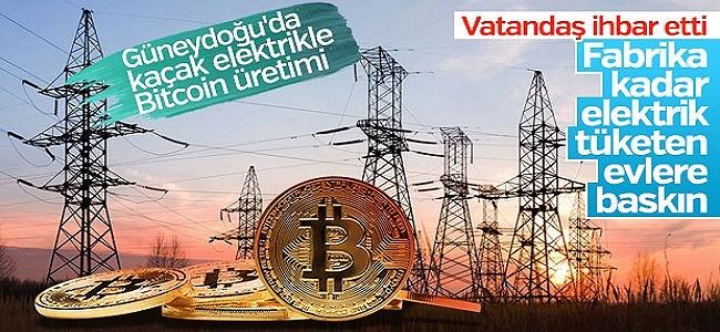 Kaçak Elektriğin Altından da Bitcoin Çıktı! Fabrika Gibi