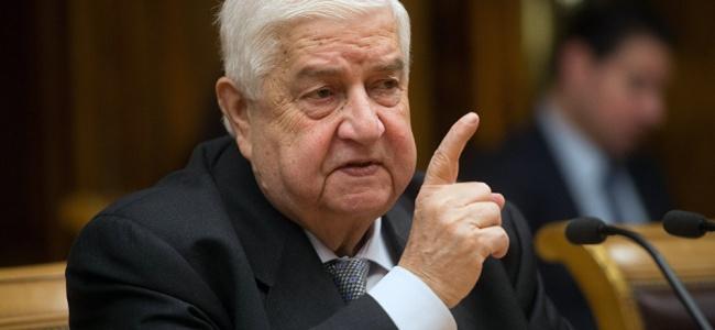 Suriye Dışişleri Bakanı: Türkiye İle Karşı Karşıya Gelmek İstemiyoruz!