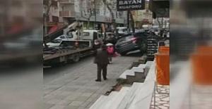 Fren Yerine Gaza Basınca Kaza Kaçınılmaz Oldu