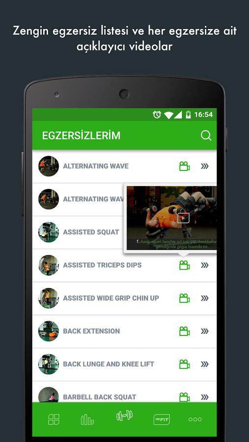 Android için MACFit uygulaması