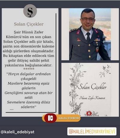 Hüsnü Zafer Kömürcü'nün yeni kitabı: Solan Çiçekler